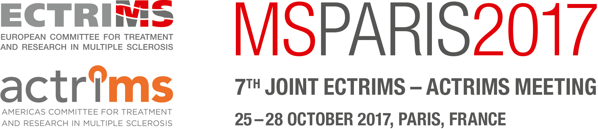 MSParis2017 - 7th Joint ECTRIMS - ACTRIMS Meeting